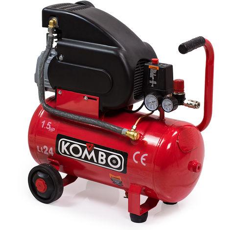 Compressore ad aria elettrico da 24 lt 8bar 1.5cv gonfaggio pittura KO277