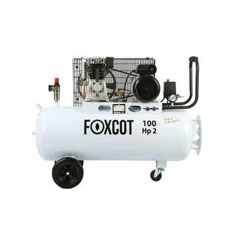 Compressore aria 100 litri Foxcot FL100 - Kit 5 utensili incluso