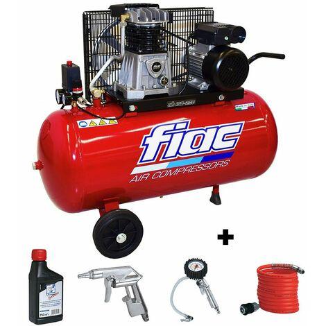 Compressore aria 100 lt fiac ab 100/268 trasmissione a cinghia elettrico 1,5kw