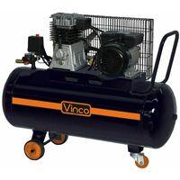 Compressore aria 100 lt lubrificato olio monofase cinghia portatile vinco 60604