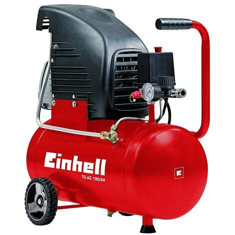 Compressore Aria Einhell 24 Lt Litri Compatto Manometro Elettrico Ruote Valvola