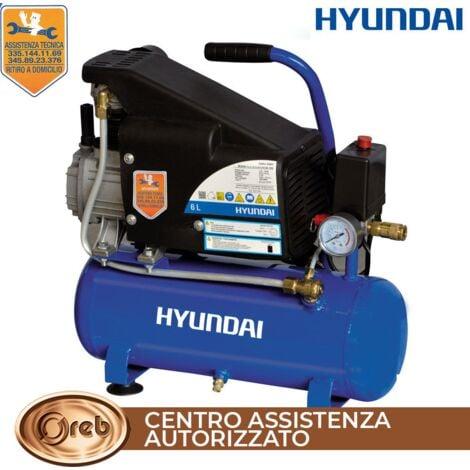 Compressore aria elettrico 6 lt 8 bar 1hp 230v hyundai cod 65602 lubrificato