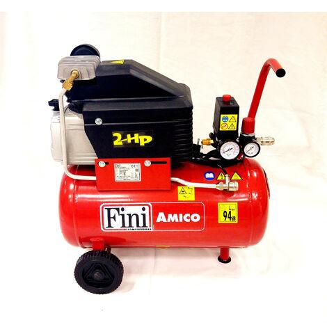 COMPRESSORE ARIA FINI AMICO 25/2400 - Lt.25 - HP2 - BAR 8