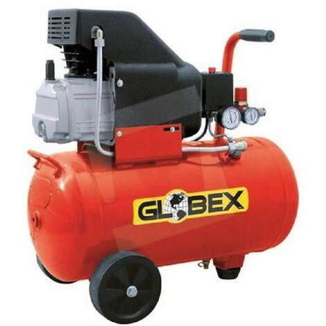 Compressore Aria Globex 24 Lt Litri Compatto Manometro Elettrico Ruote Valvola