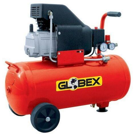 Compressore Aria Globex 50 Lt Litri Compatto Manometro Elettrico Ruote Valvola