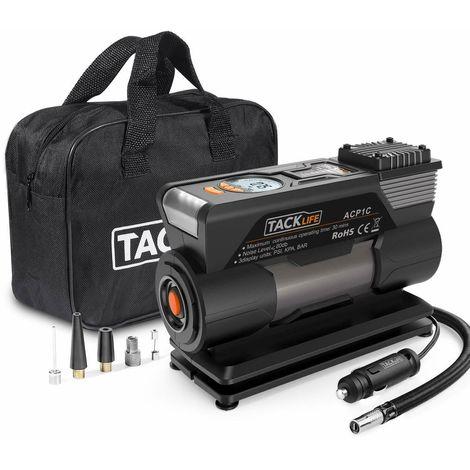 Compressore aria portatile auto 40l/min mini pompa elettrica 120w 4 ugelli