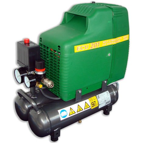 COMPRESSORE ARIA PROFESSIONALE 8 bar 1,5 HP 205 lt/min FIAC ECU 201 HP 1,5 MADE IN ITALY