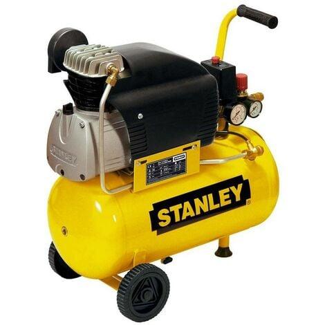 Compressore Aria Stanley 24 Lt Litri Compatto Manometro Elettrico Ruote Valvola