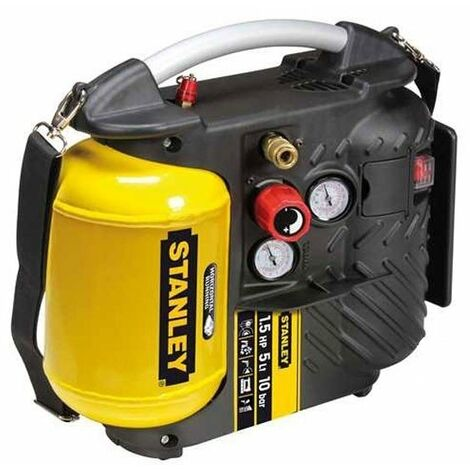 COMPRESSORE ARIA STANLEY AIR BOSS PORTATILE TRACOLLA 5 LT 1,5 HP 10 BAR AIRBOSS