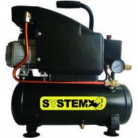 compressore con serbatoio 6 litri system +
