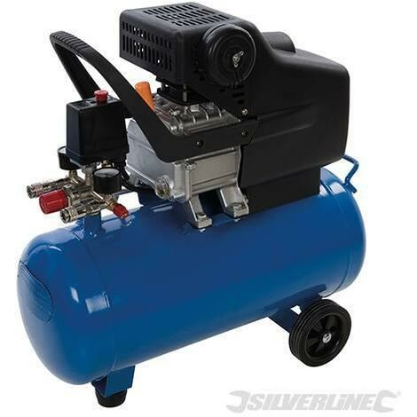 Compressore d'aria 24L motore pressione energia 1500 W - 2 CV Silverline