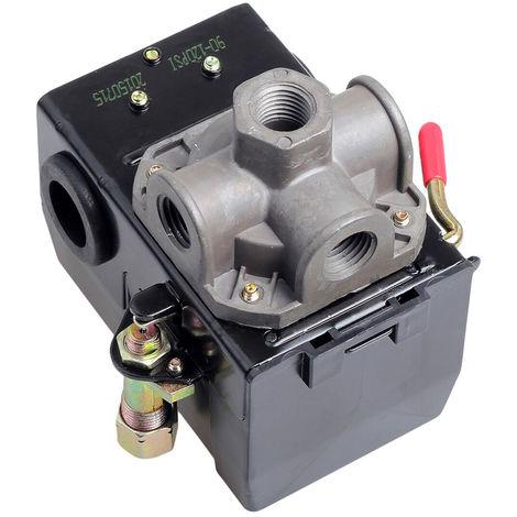 Compressore d'aria Pressostato valvola di regolazione 120 psi 4 Port Scaricatore On Off Leva /