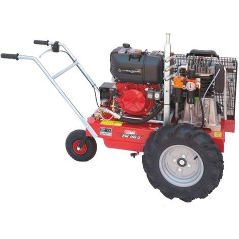 Compressore Diesel semovente Lisam SEM998DAE con Lombardini avviamento elettrico