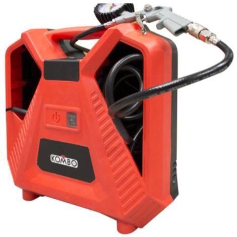 Compressore Elettrico 230V-50Hz 1100W Pressione max:300psi. Cilindro D.35mm, cavo da 3MT, Tubo da 45mm, pistola+6 adattori incl.