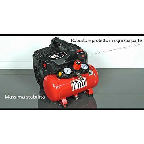 """main image of """"Compressore FINI SILTEK S/6 Silenzioso 2 Manometri 750 W 230 V Rosso"""""""