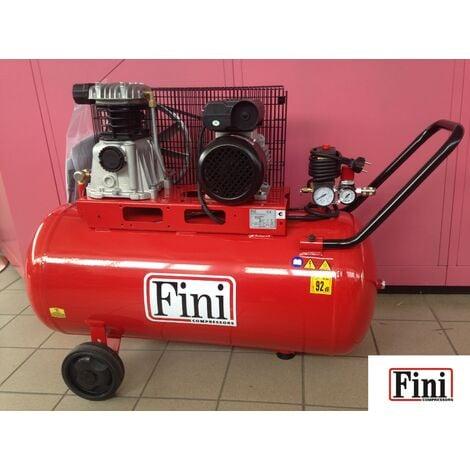 COMPRESSORE FINI TRAINO A CINGHIA 100 (90) LITRI 2 HP 1,5 KW MONOFASE MK 102