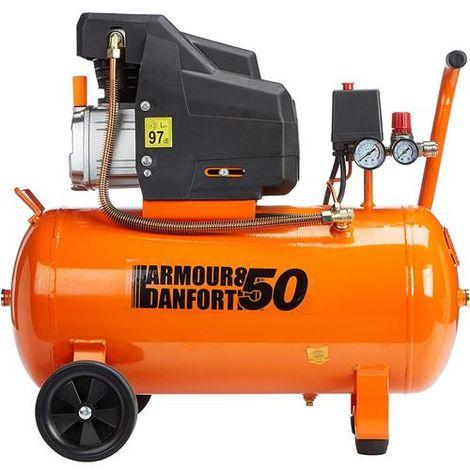 Compressore lubrificato ad olio 50 lt Armour & Danforth TMX028-2019 (2.5Hp 1800w 8bar)