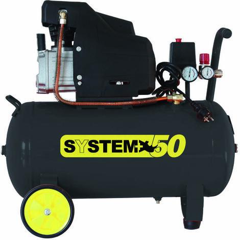 compressore lubrificato ad olio da 50 litri system +