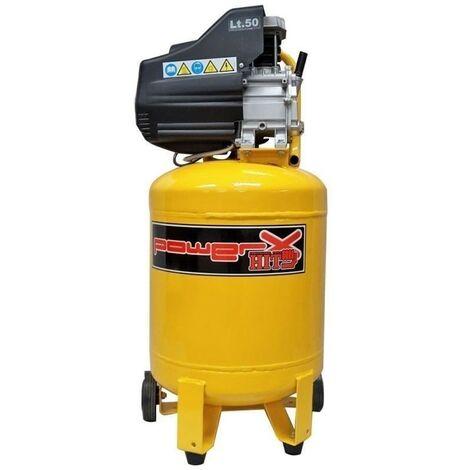 Compressore lubrificato Mistral 50Lt aria 170Lt/min doppio manometro attacchi