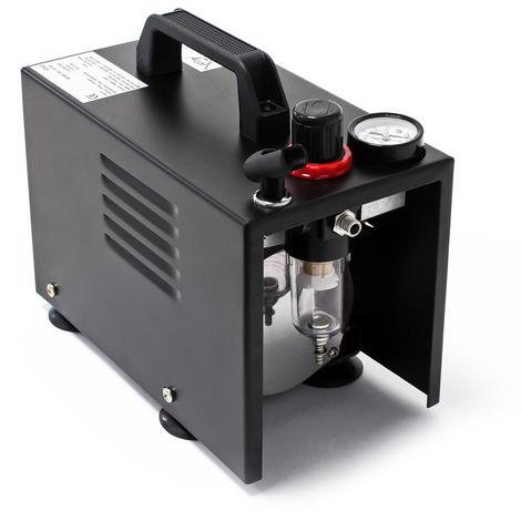 Compressore per aerografo AF18A compatto Manometro Riduttore di pressione Arresto automatico
