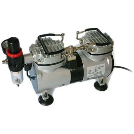 Compressore per aerografo AS19 0-4 bar con filtro acqua manometro riduttore pressione