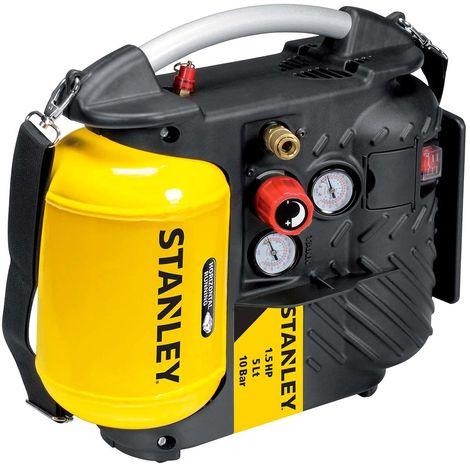Compressore portatile oilless Stanley DN 200/10/5, 5 litri portatile con tracolla con OMAGGI