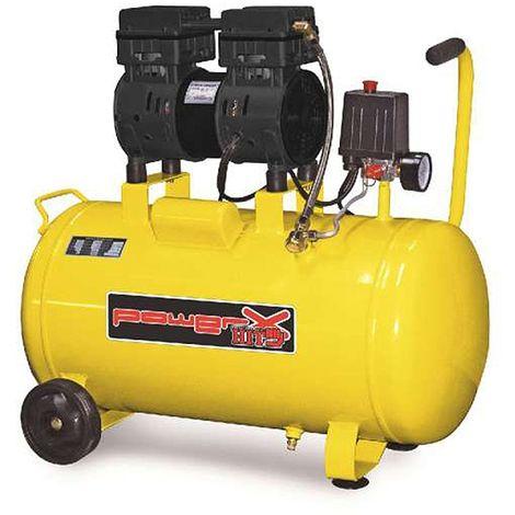 Compressore secco Mistral silenziato 50Lt 1Hp aria 160Lt/min rumore 59dB