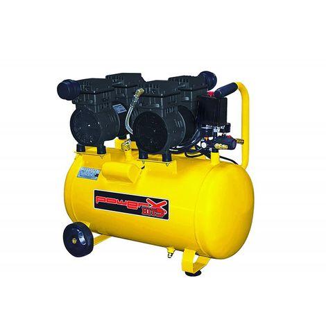Compressore secco Mistral silenziato 50Lt 2x1Hp aria 160Lt/min rumore 62dB