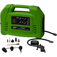 Compressore senza serbatoio 1100W e accessori - BUILDWORKER