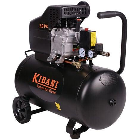 compressore silenzioso 8 bar 50 lt litri 1500 watt 2 CV 190 litri al minuto