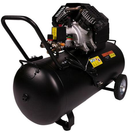 compressore silenzioso 8 bar doppio cilindro 3 CV da 100 lt litri 360 litri di aria al minuto