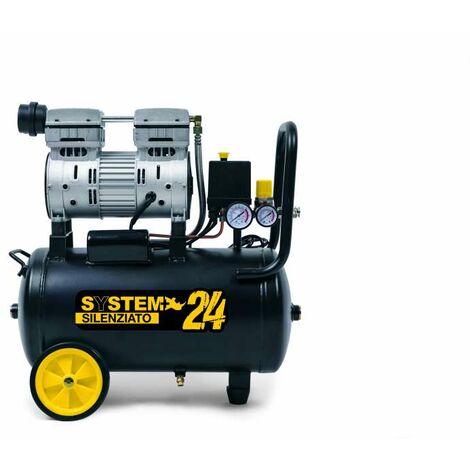 Compressore super silenziato 24 l System+