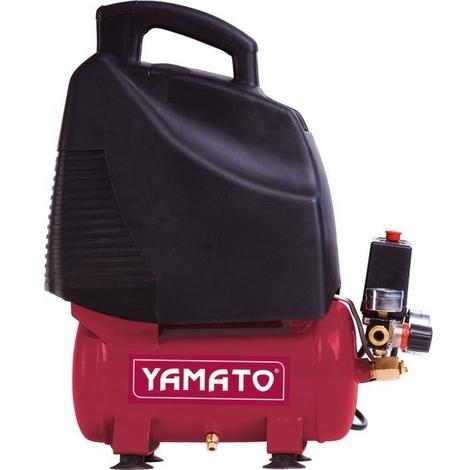 Compressore Yamato Coassiale Monofase Oilless 1,5 Hp 1,1 kw 6 Litri - Peso: 11 Kg