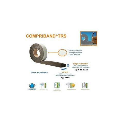 Compriband ®, joint de mousse imprégnée, rouleau de 5m60,larg15 / 4-11mm TRAMICO - 1464510000.