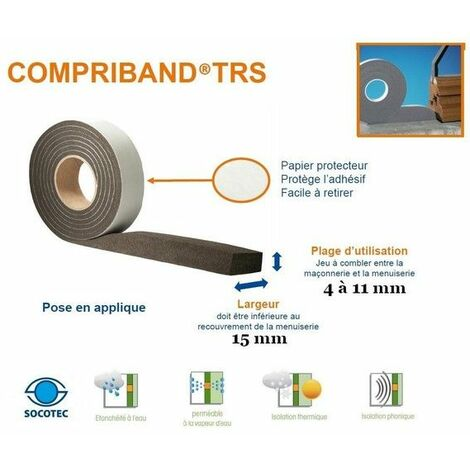 """main image of """"Compriband ®, joint de mousse imprégnée, rouleau de 5m60,larg15 / 4-11mm TRAMICO - 1464510000."""""""