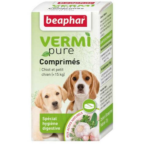 """main image of """"Comprimés de purge aux plantes Vermipure 50 comprimés Chiot et petit chien"""""""