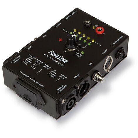 Comprobador de Conexiones de Audio Fonestar CTM101, incluye puntas para medir continuidad punto a punto