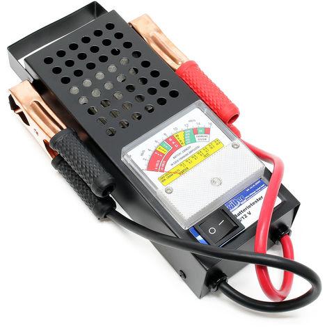Comprobador para baterías de 6V y 12V con 2 pinzas, medidor del sistema de batería de vehículos