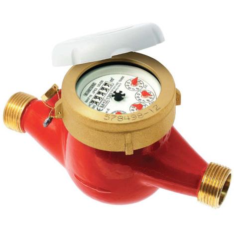 """Compteur 1ère prise eau chaude à jets multiples - PN16 - CAL15 - Mâle 3/4"""" (20x27)"""