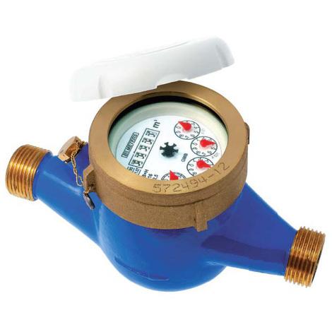 """Compteur 1ère prise eau froide à jets multiples - PN16 - CAL20 - Mâle 1"""" (26x34)"""