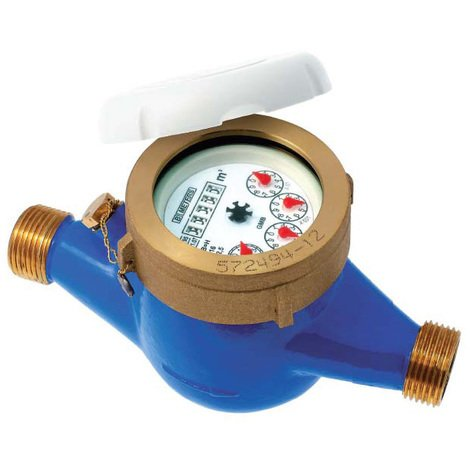 """Compteur 1ère prise eau froide à jets multiples - PN16 - CAL25 - Mâle 1\""""1/4 (33x42)"""