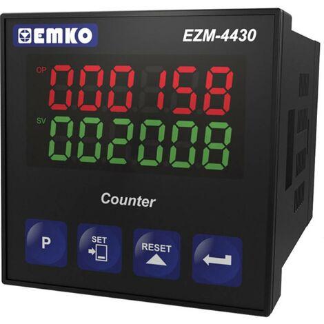 Compteur à présélection 8 digits EZM-4430.5.00.0.1/00.00/0.0.0.0 avec sortie relais Emko EZM-4430.5.00.0.1/00.00/0.0.0.