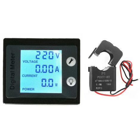 Compteur Ac 80-260V 100A Panneau D'Affichage Numerique Voltmetre Amperemetre Jauge D'energie electrique