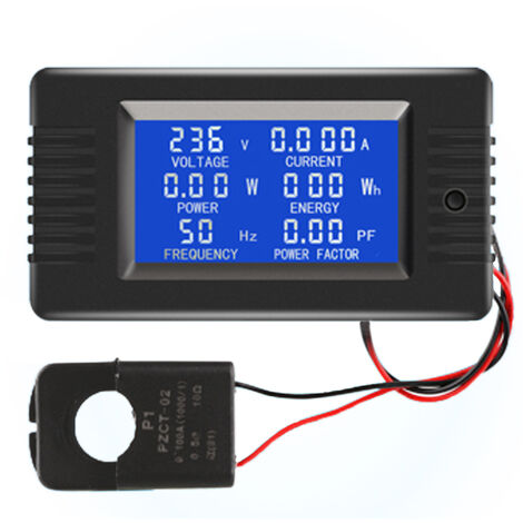 Compteur Ac Affichage Numerique Moniteur D'Alimentation Voltmetre Amperemetre Frequencemetre, Ct Ouvert