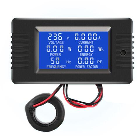 Compteur Ac Affichage Numerique Moniteur D'Alimentation Voltmetre Amperemetre Frequencemetre, Fermer Ct