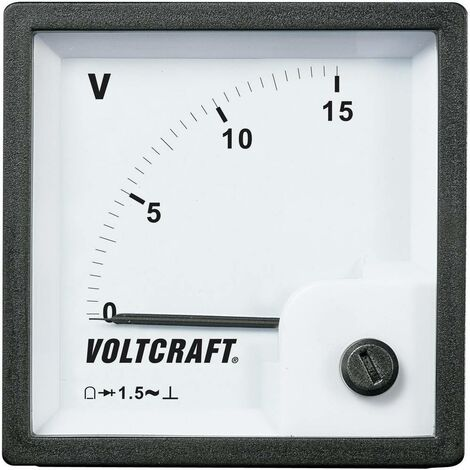 Compteur analogique encastrable bobine Voltcraft AM-72x72/15V