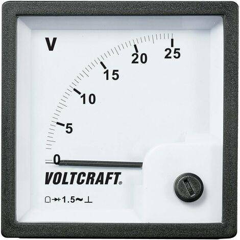 Compteur analogique encastrable bobine Voltcraft AM-72x72/25V