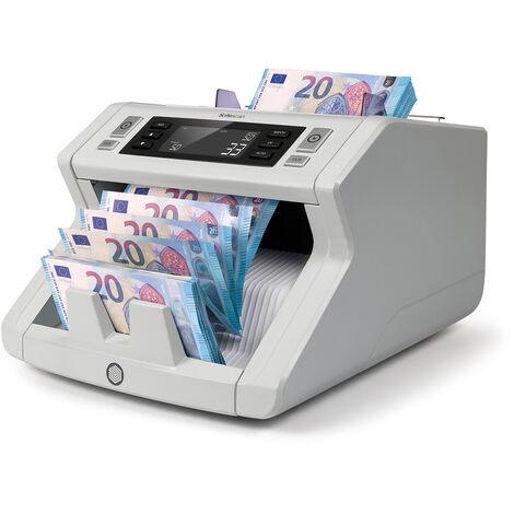 Compteur de billets à grande vitesse Safescan 2210 à 1000 billets par minute avec un grand écran LCD facile à utiliser