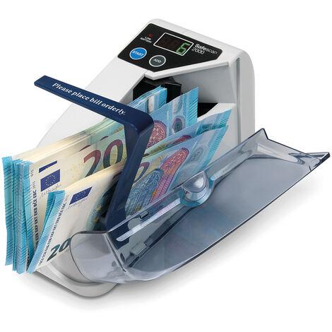 Compteur de billets portable Safescan 2000 à 600 billets par minute idéal pour les marchés, les événements ou les kiosques
