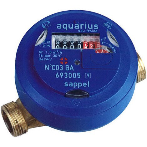 Compteur d'eau divisionnaire eau chaude 20-27
